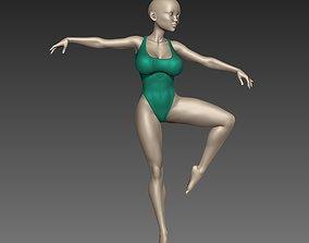 Female Woman Ballet poses N1 3D print model