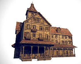 Old Abandoned Wood Building 3D model