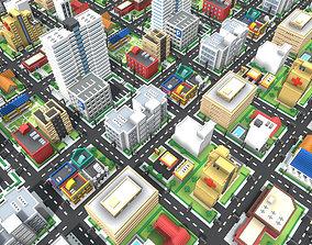 Voxel City 3D asset