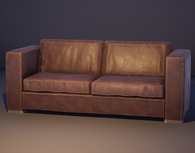 3D model Leather Sofa - PBR 2K Textures