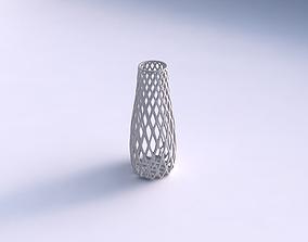 3D print model Vase with diagonal grid lattice