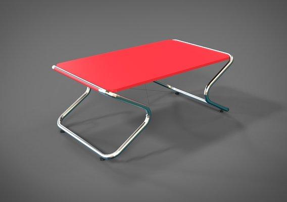 Minimalistic stainless steel living room table