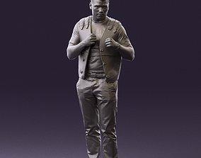 Man in black vest jeans boxer pose 0815 3D Print Ready