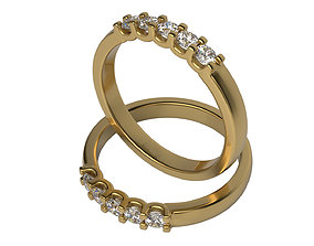 3D print model 5 Diamond ring Size 5-10