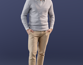Simon 10041 - Casual Standing Man 3D model
