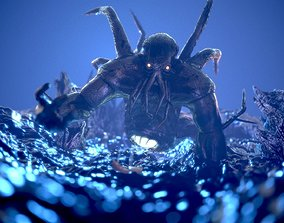 3D model Cthulhu the Sea Monster