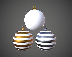 3D model low-poly Christmas Balls