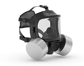 Safety Gas Mask 3D