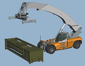 3D Reach Stacker LRS-645 3Way posed set