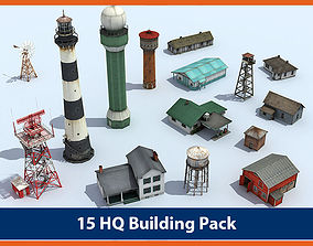 3D asset Building Pack 02 - Low Poly