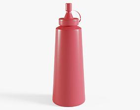3D asset Ketchup Bottle