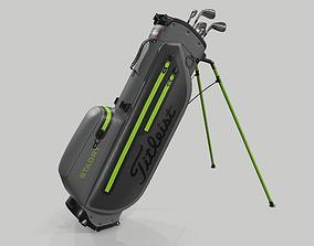 Titleist Gray-Green StaDry Golf Bag Plus 3D