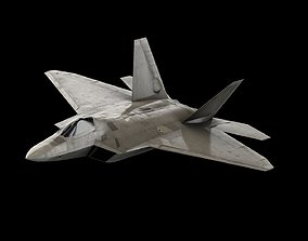 rigged Lockheed Martin F-22 Raptor - 3D Model - Stealth
