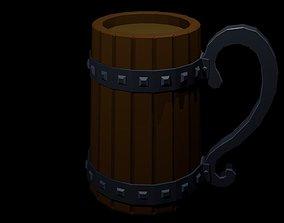 Low Poly Beer Mug 3 3D model