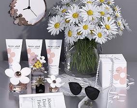 Daisy Flower Decorative Set decor set 3D model