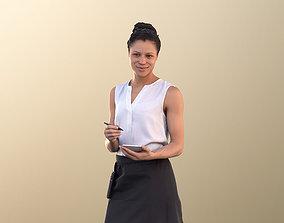 Diana 10888 - Female Waitress Taking Order 3D asset