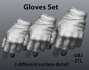 3D model Gloves Set