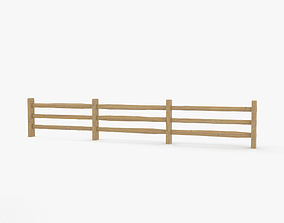3D Split-Rail Fence