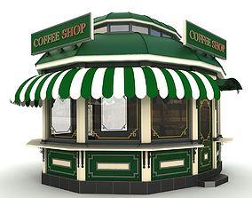Fast food kiosk 3D model