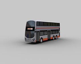 3D model City Bus lowpoly 8