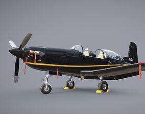 Pilatus PC-7 Mk-I HLBlack 3D asset