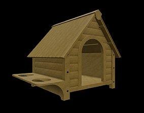 HOME-001 Wooden Dog House 3D model