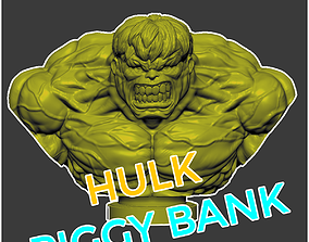 3D print model The Hulk Bust - The Hulk Piggy Bank Marvel