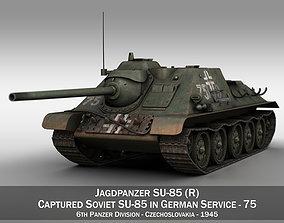 Jagdpanzer SU-85R - 75 - 6 Panzer Division 3D model