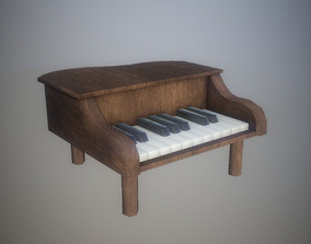 Low Poly Toy Piano PBR 3D model VR / AR ready