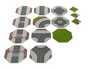 Road Puzzle Mat 3D model