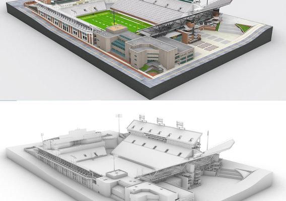Bobby Dodd stadium 3d  model