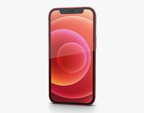 3D Apple iPhone 12 mini Red