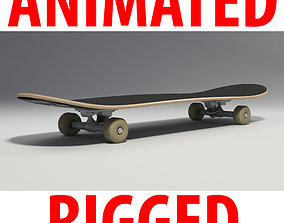 Skateboard 3D model animated