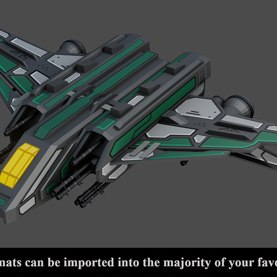 Sci Fi Space Ship - Low Poly - GameReady -  PBR