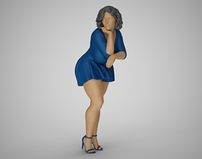 3D printable model Woman Lean on Table