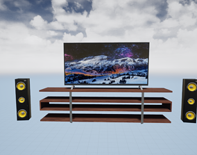 3D asset TV Unit