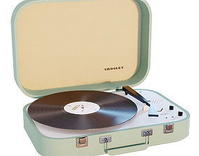 3D asset Crosley Coupe Turntable