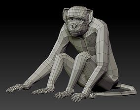 realtime 3D MONKEY LOWPOLY