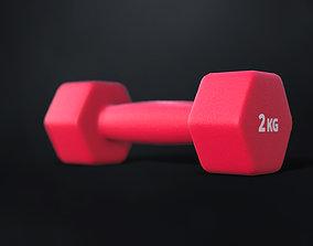 Fitness dumbbells 2 kg 3D model