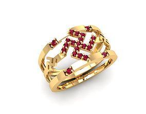 3D print model 1427 luxury diamond ring