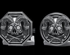 skull cufflinks 2 skullring 3D model