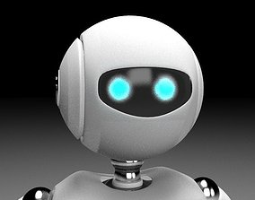 Rigged robot character 3D model