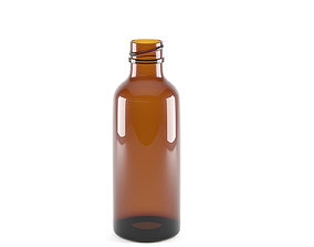 3D model Bottle Amber Glass