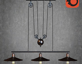 American steampunk lamp 3D