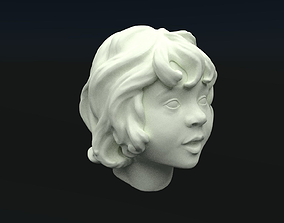 little girls head 3D printable model
