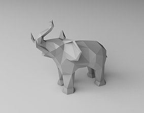 3D printable model low poly elephant