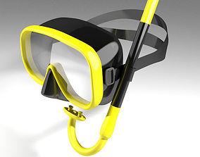 Scuba Diver Mask Type 1 3D model