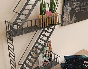 3D model Shelf stairs