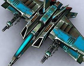 3DRT - Sci-Fi Fighters Fleet - Fighter 23 low-poly