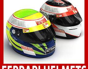 Helmet F1 2009 Felipe Massa and Kimi Raikkonen 3D